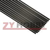 4mm carbon fiber rod - Zyhobby 10pcs 0.5mm3mm500mm Length Carbon Fiber Strip Flat Bar for RC Airplane IN US