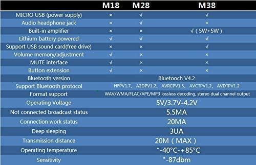 HiLetgo 3pcs M18 Wireless Bluetooth MP3 Audio Receiver Board BLT 4.2 mp3 Lossless decoder Bluetooth 4.2 Audio Receiver Board Wireless Stereo Sound Module