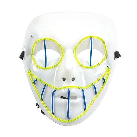 Máscara de ojos de serpiente LED para Halloween con purga de frío ...
