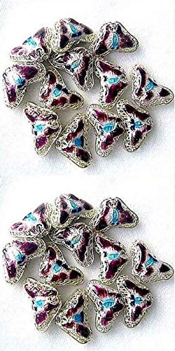 Plums Cloisonne 16x10mm Butterfly Pendant Beads for Jewelry Making 8635F