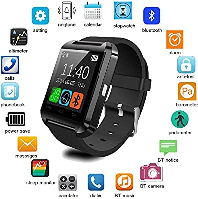 Letopro Smartwatch Bluetooth Reloj Inteligente Android iOS, Smart ...