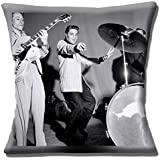 Elvis The King of Rock & Roll Black & White Photo Print - 16 (40cm) Pillow Cushion Cover by Cushions Corner