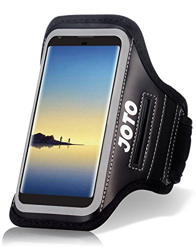 Running Armband for Samsung Galaxy S9+ S8 Plus Note 8 5, iPhone X 8 Plus 7+ 6 Plus 6s Plus, Pixel 2 XL, LG G7 V30, HUAWEI P20 Mate 10, JOTO Sports Arm Case Exercise Gym Pouch Workout Cover Black