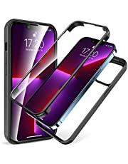 KKM iPhone 13 Pro Max Case, Full Body Rugged Case with Built-in Screen Protector & Tempered Glass Camera Lens Protector, Shockproof Bumper, Crystal Clear, Anti-Yellowing Cover for iPhone 13 Pro Max 6.7-Inch 2021
