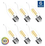 Best Tip Bulbs With Medium Bases - Hyperikon LED Edison Flame Tip Filament B11 Candle Review