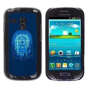 MOBMART Slim Sleek Hard Back Case Cover Armor Shell FOR Samsung Galaxy S3 MINI 8190 - Moonlight Door