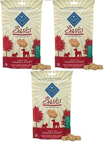 Blue Buffalo Basics Biscuits - Salmon & Potato 6oz, Pack of 3