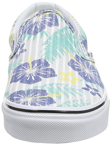Vans - Classic Slip-on, Zapatillas Unisex adulto, Multicolor (stripes/navy), 35 EU Multicolor (aloha Stripes/true Blue/true White)