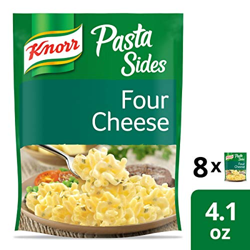 - Knorr Italian Sides Pasta Side Dish, Four Cheese Pasta 4.1 oz (Pack of 8)