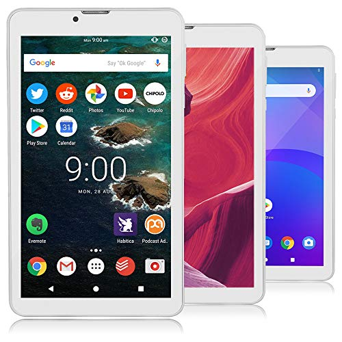Indigi Ultra-Slim 7.0″ Official Android Pie OS Tablet PC 4G LTE Wireless Smartphone AT&T Unlocked (White)