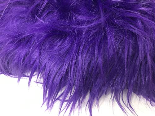 Luxury Faux Fur Fabric Piece for Crafting/Photo Prop Backdrop/Basket Filler/Fursuit (Purple, 8x8 inches)