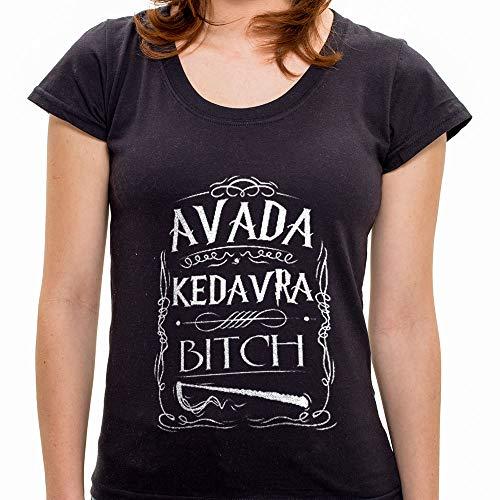 Camiseta Avada Kedavra Bitch Feminina 7B54 - Camiseta Avada Kedavra Bitch - Feminina - Gg