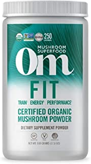 product image for Om Organic Mushroom Superfood Powder, Fit: Energy, 250 Servings , Cordyceps & Reishi, Peak Performance Support Supplement, 1.1 Pound (Pack of 1)