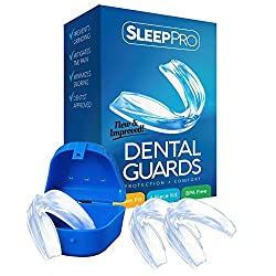 SleepPro Dental Night Guard  Stops Teeth Grinding, Clenching, Bruxism and TMJ  Includes 3 Guards, 1 Case And Complete Custom Molding Instructions
