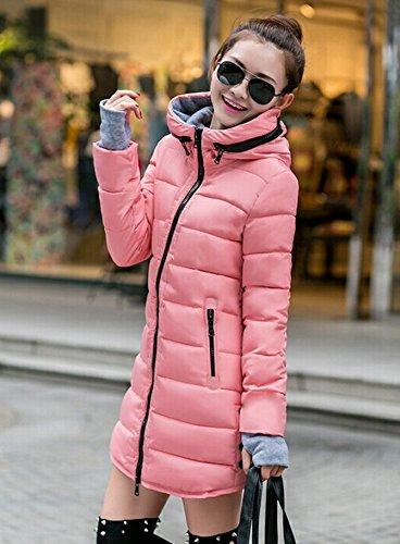 Femme Veste Montagne Rose M Clair Doudoune Marta Coton Manteau L'hiver À Rembouré Capushe Taille Cintré 5IY4Yx