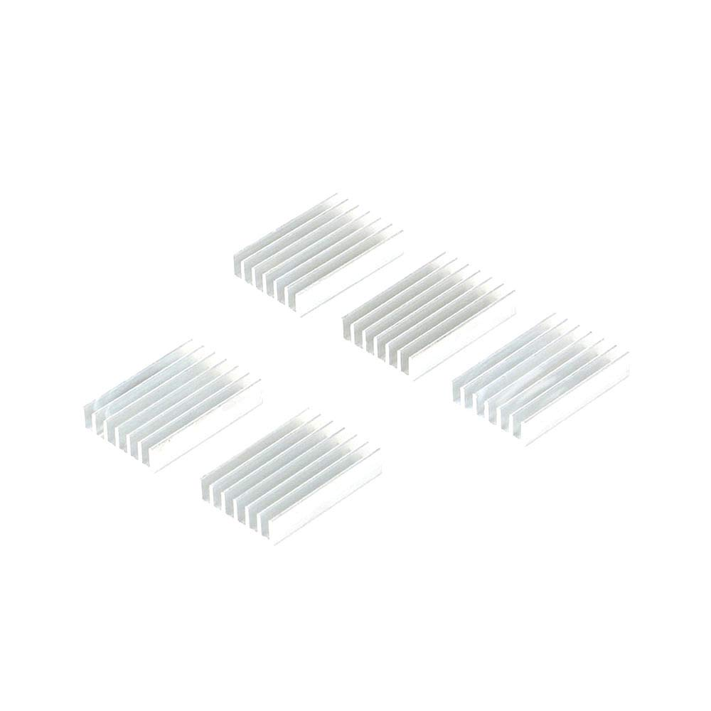 DIYElectronic 10pcs 30206mm Heatsink Cooling Fin Aluminum Radiator Cooler Heat Sink for Chip LED Power IC Transistor Module PBC 30X20X6mm