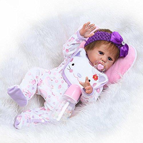 "20/"" Reborn Girl Doll Handmade Realistic Lifelike Newborn Doll Full Silicone"