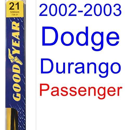 Top 2002-2003 Dodge Durango Wiper Blade (Passenger) (Goodyear Wiper Blades-Premium)