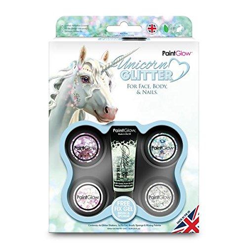 PaintGlow - Unicorn Chunky Cosmetic Glitter Shaker Boxset Fix gel Festival Glitter PaintGlow