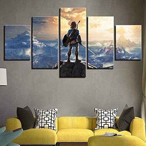 LHMTZ Five modules canvas painting 150*100CM Modern Wall Art Pictures Home Decor barber poster 5 Panels hair dressing hair salon posters HD Printed Painting canvas print wall art picture for home deco