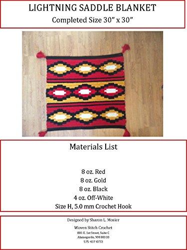 Lightning Saddle Blanket PDF Crochet ()