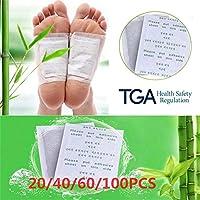 MKNIUA 20 stuks Clean Detox Foot Pad Kruiden Patch Detox Zelfklevende Fitness Gezondheid Verbeteren Slaap Schoonheid…