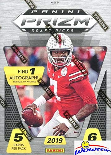 Heisman Football Card - 2019 Panini Prizm Draft Picks Football EXCLUSIVE Factory Sealed Retail Box with AUTOGRAPH ROOKIE! Look for ROOKIES & AUTOS of Kyler Murray, Dwayne Hoskins, Daniel Jones, Drew Lock & More! WOWZZER!