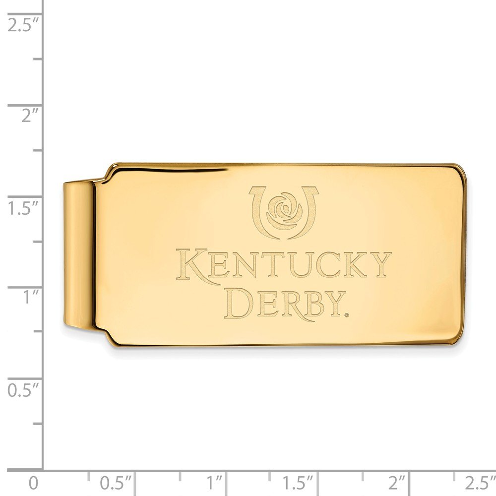Jewel Tie 925 Sterling Silver Gold-Toned Kentucky Derby Money Clip