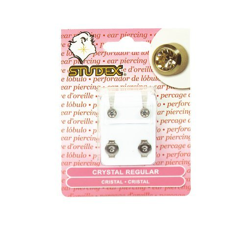 Studex Titanium Regular Crystal Piercing Earrings (Piercing Earrings Studex Sterilized)