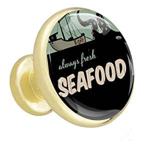 Cabinet knobs 4 Pack Seafood Boat Wardrobe Knobs Shaped Dresser Knobs Gold for Jewelry Box 4 Pack 1.26x1.18x0.66in