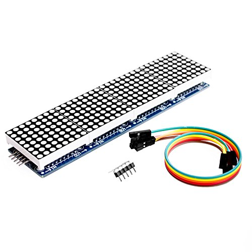 Wangdd22 MAX7219 Dot Matrix Module for Arduino Microcontroller 4 in 1 Display with 5pin Dupont Line
