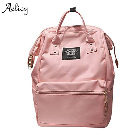 Amazon.com: Brand Teenage Backpacks for Girl Travel Bag Women Large Capacity School Bags Girls Black Backpack Mochila: Kitchen & Dining