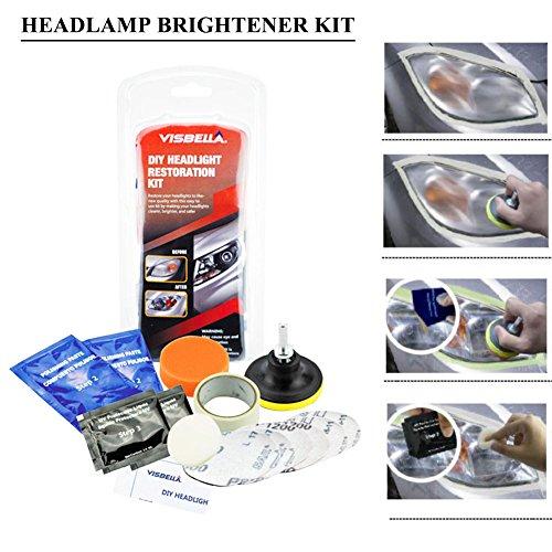 Car Headlamdp Brightener Kit, Car Headlight Restoration Kit, Lampshade Scratch Polishing Tools Headlight Repair Coating Brightener Increase Visibility Headlight Restorstion Kit