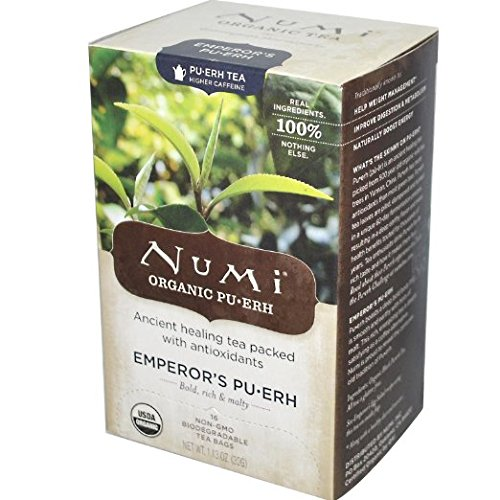 Numi Organic Emperors Puerh Black Tea - 16 Count ( Pack of 6 )