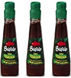 Bufalo Salsa Clasica Mexican Hot Sauce 5.4 oz (Pack of 3)