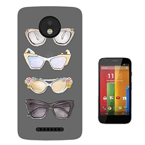 c00329 - Fun Cute Sunglasses Illustration Art Designer Fashion Love Shopping Ladies Girls Motorola Moto C Plus 5