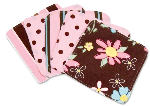 (Trend Lab Blossoms Blooming Bouquet Wash Cloths, Set of 5)