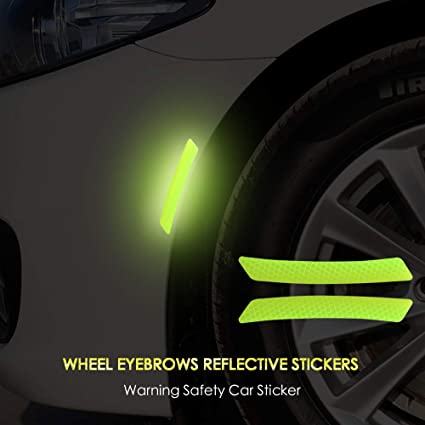 Color Name: Orange Decals & Bumper Stickers 1x Car Door Sticker Decal Warning Tape Reflective Strips Car Styling Car Reflective Stickers Safety Mark Car Stickers 6 Colors