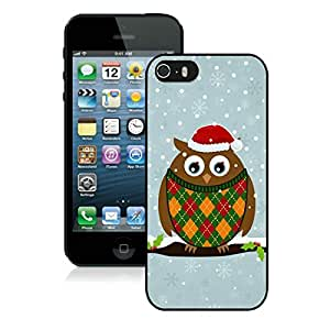 Popular Design Iphone 5S Protective Cover Case Christmas Owls iPhone 5 5S TPU Case 2 Black