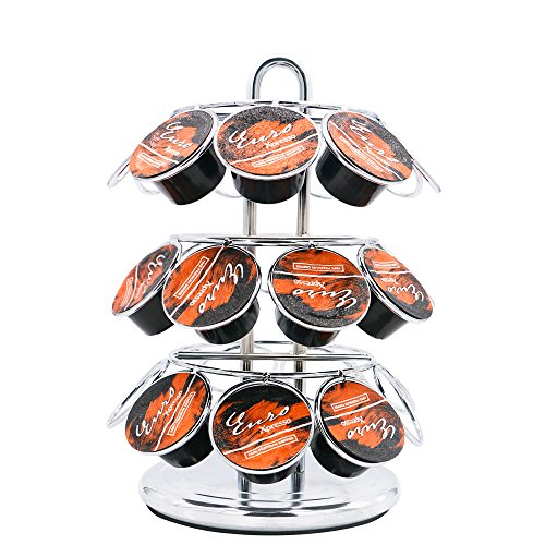 Coffee Pod Storage Carousel, Coffee Pod Holder and Organizer 27 Cup Packs by Newzeal