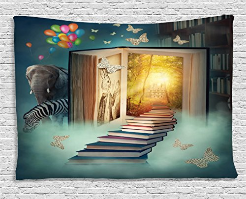 Ambesonne Fantasy House Decor Tapestry, Upstairs To The Magi