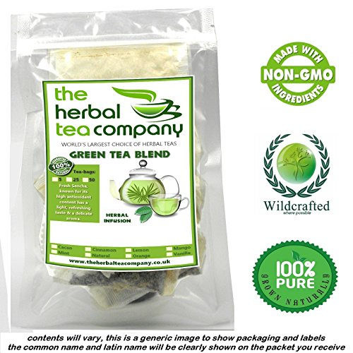 Watercress Herb Tea Bags Green Tea Blend With A Hint Of Vanilla 50 Pack