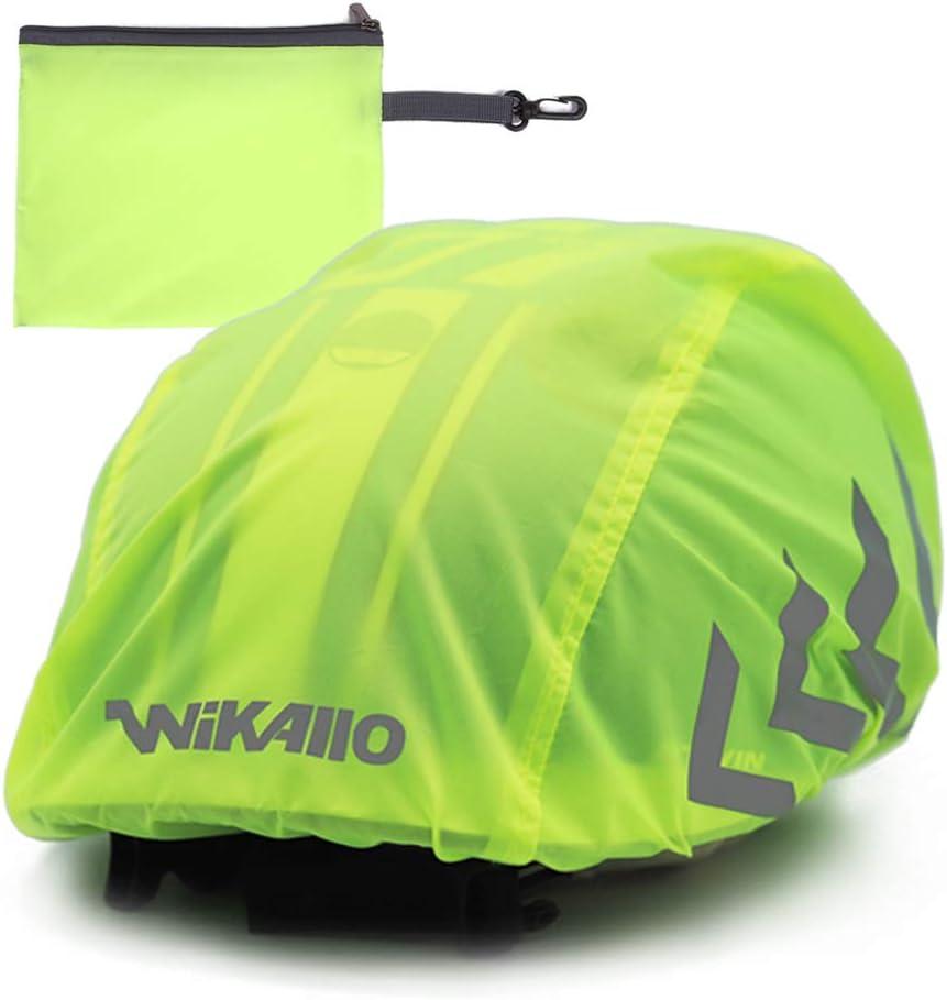 WIKALLO® wasserdichter Regenschutz für den Fahrradhelm Reflektoren wasserdichte Regenhaube Fahrradhelm Unisex Regenüberzug für den Helm mit...