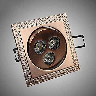 Vinteen LED 3W Estilo Europeo Retro Chino Cuadrado luz de Techo ...