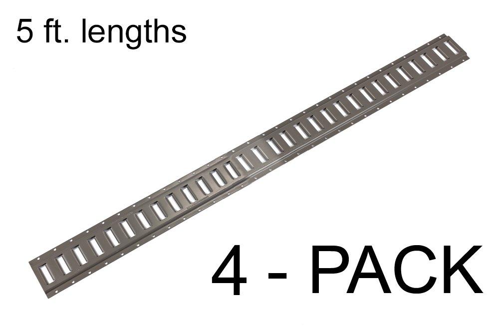 E Track Heavy Duty (12 gauge) 5 ft. Horizontal Trailer Tiedowns Mfg USA - 4 Pieces