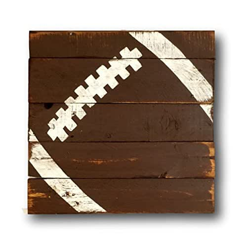 Vintage Wooden Signs Home Decor: Amazon.com: Football Sign / Vintage Wood Sports Sign