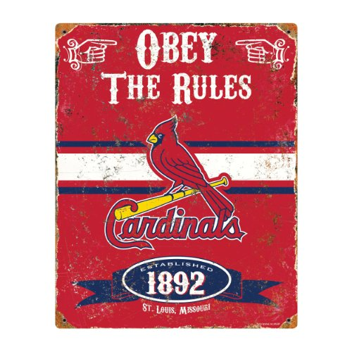 Party Animal MLB Embossed Metal Vintage Pub Signs,St. Louis Cardinals