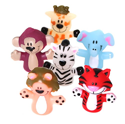 SNInc. Animal Finger Puppets For Kids - 24 Zoo Themed Puppets Per Pack by SNInc.