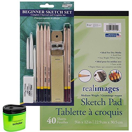 Pro Art Beginner Pencil Sketch Set, 40 Sheet