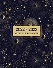 2022-2023 Monthly Planner: Space Planets Astrology Cover 2 Year Monthly Planner Calendar Schedule Organizer January 2022 to December 2023 (24 Months) With Federal Holidays and inspirational Quotes